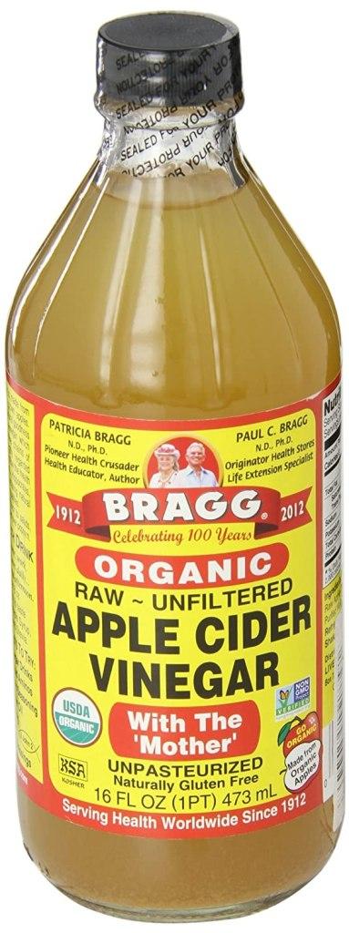 Vinagre de sidra de manzana natural