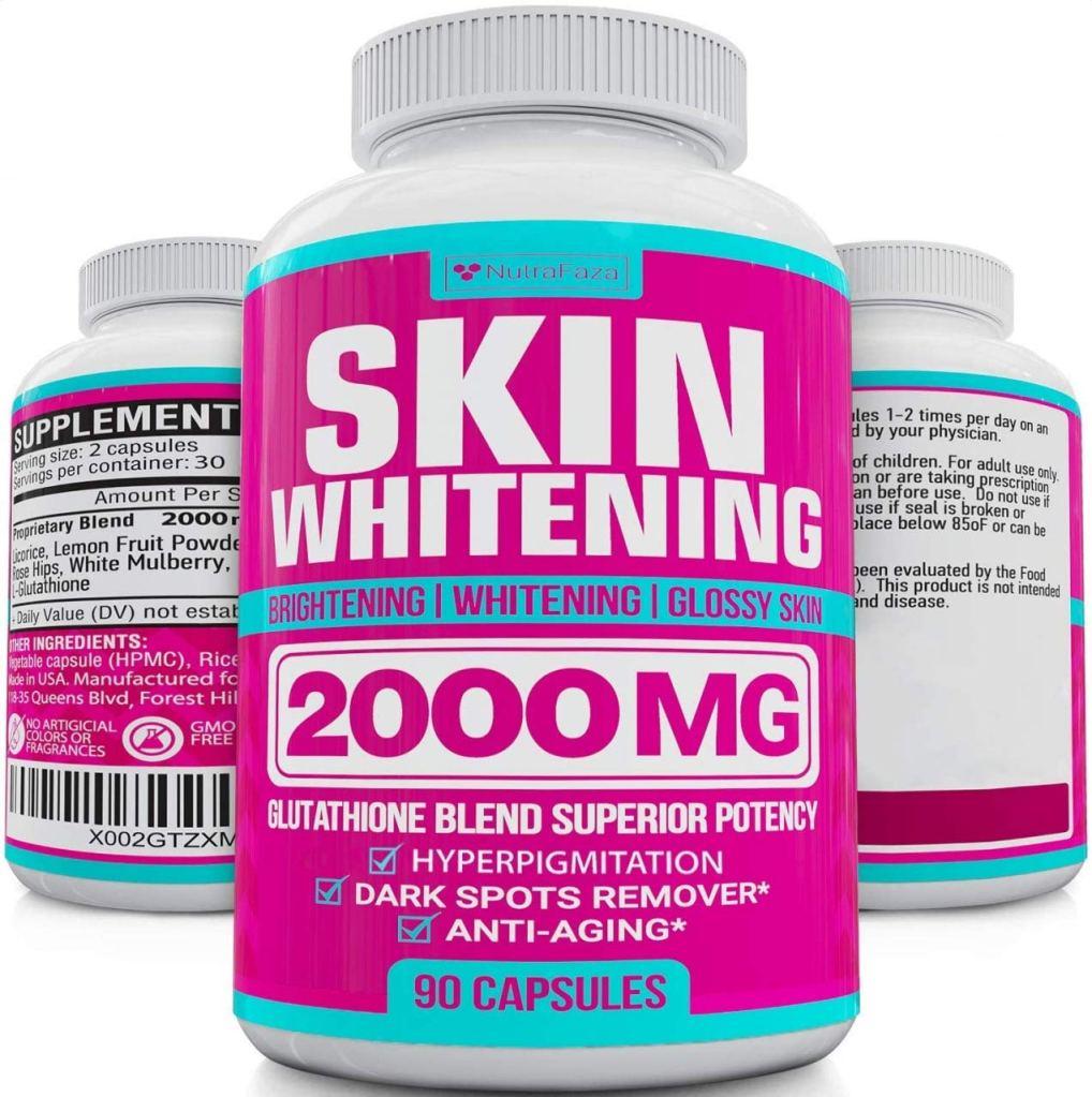 Suplemento en cápsulas para aclarar la piel de NutraFaza