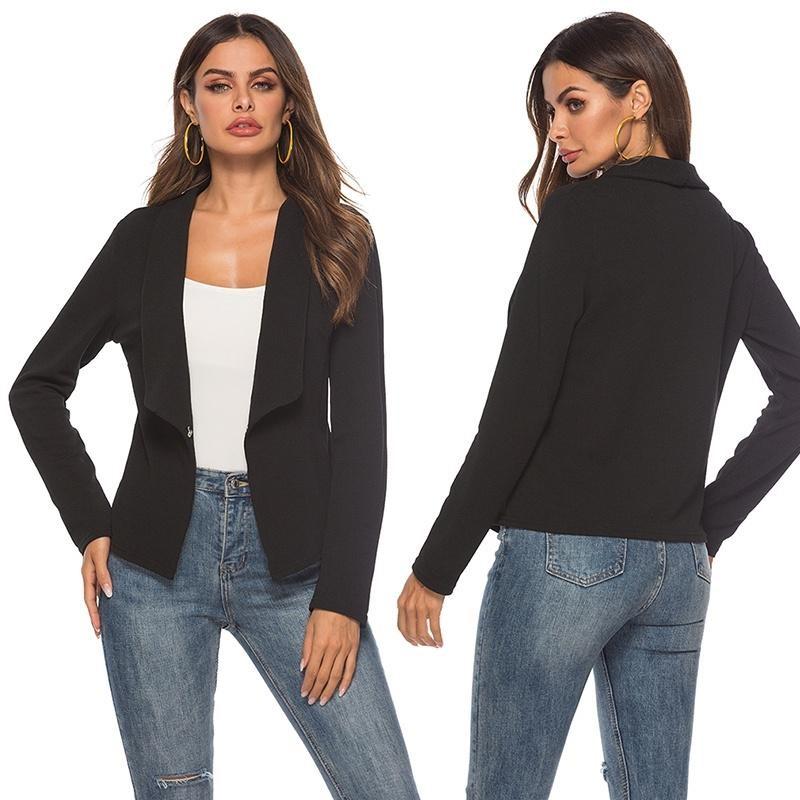 abrigo básico color negro
