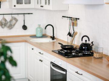 cocina del hogar renovada