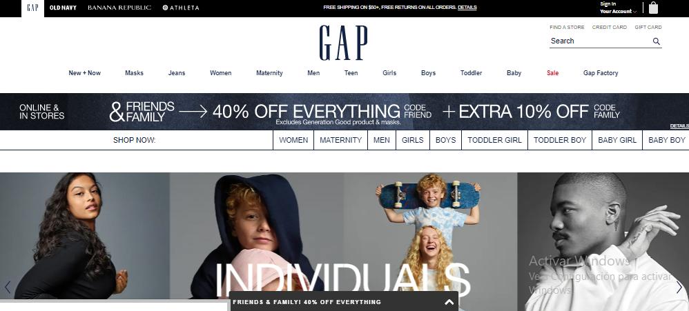 cupones y códigos promocionales de GAP