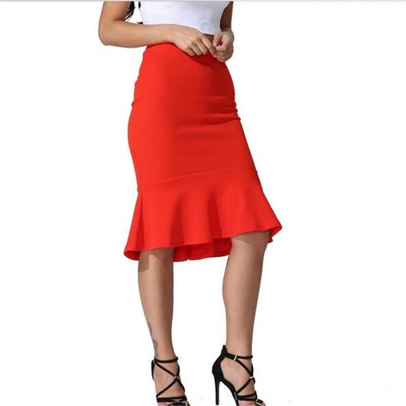 falda roja de sirena