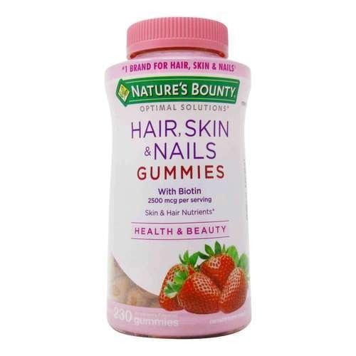 gomitas masticables para hacer crecer el cabello de la marca Nature's Bounty