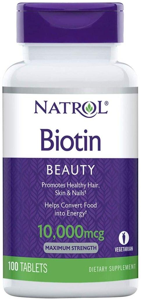 suplemento para el crecimiento del cabello de biotina