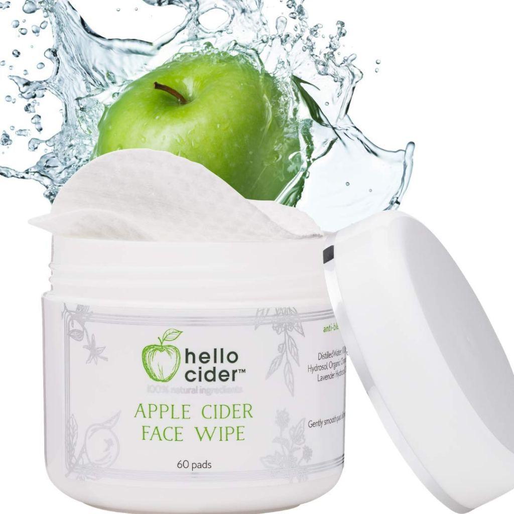 toallitas para el rostro con vinagre de sidra de manzana