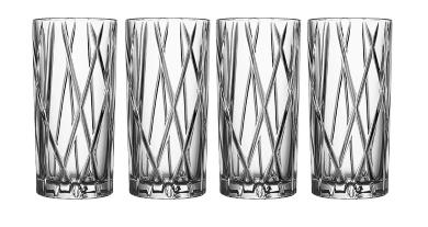 set de vasos de cristal