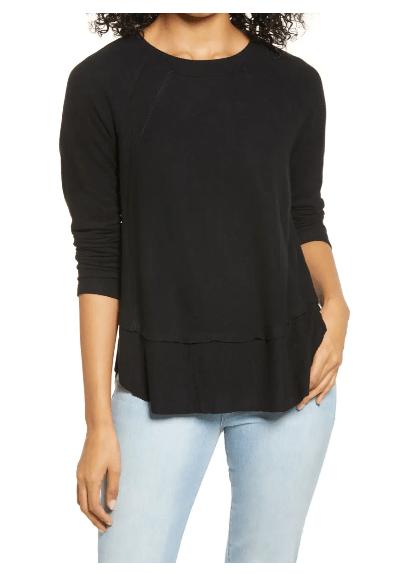blusa negra para mujer