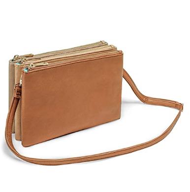 bolso de mano color marrón