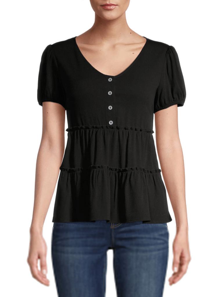 blusa casual negra