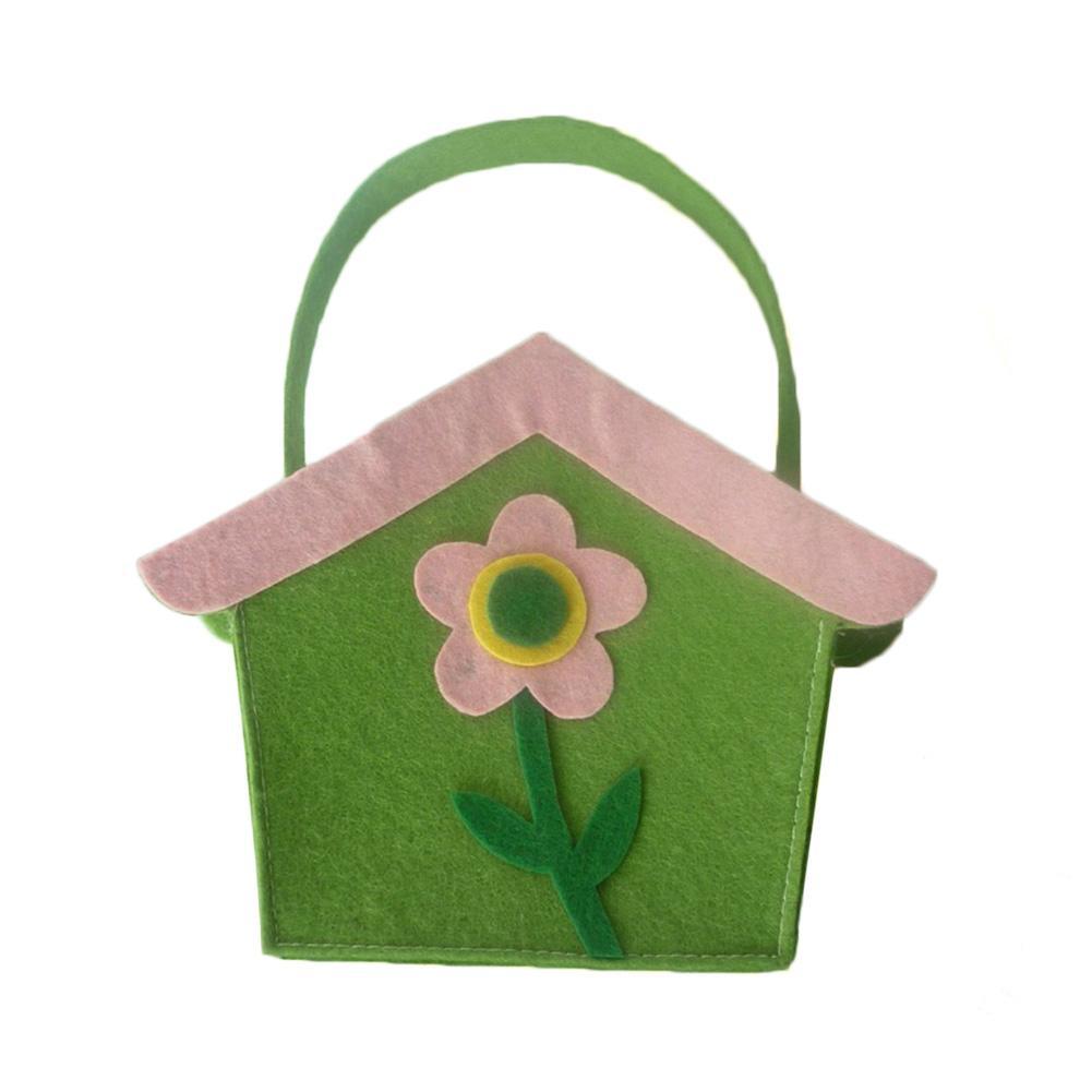 caja de pascua de fieltro verde