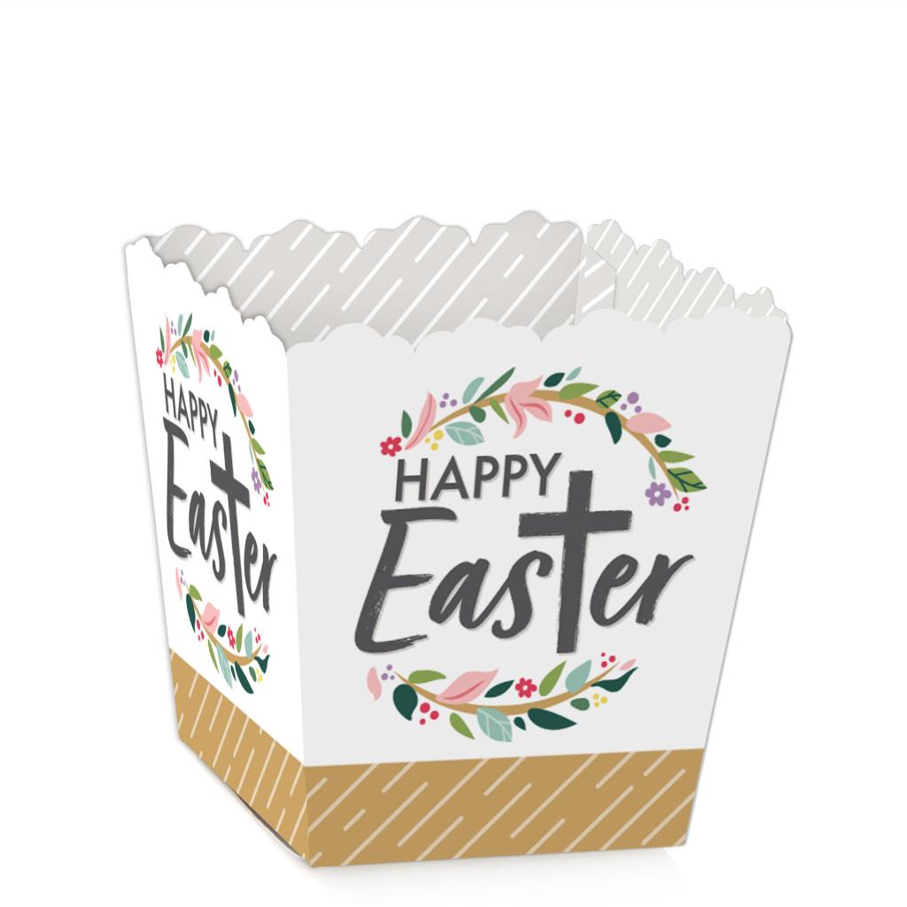 caja de pascua happy easter blanca