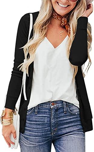 cardigan color negro