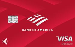 tarjeta de reembolso de efectivo de Bank Of America