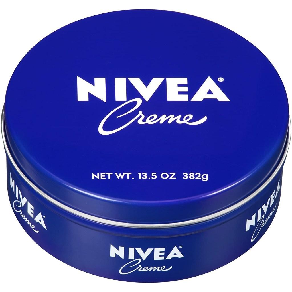 crema nivea de lata azul