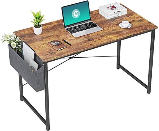escritorio minimalista de madre y hierro