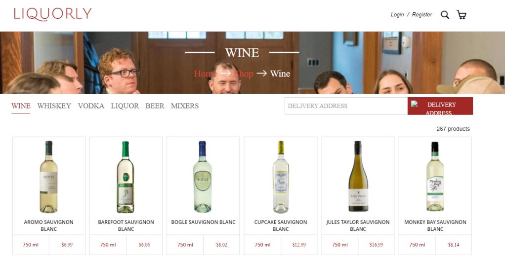 liquorly para comprar vino online
