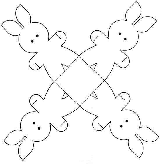 patrón de caja conejo de pascua