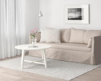 sofà beige de ikea