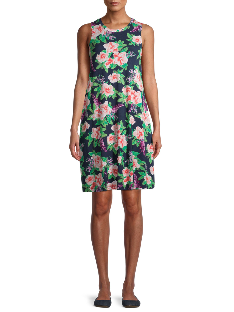 vestido floreado para mujer