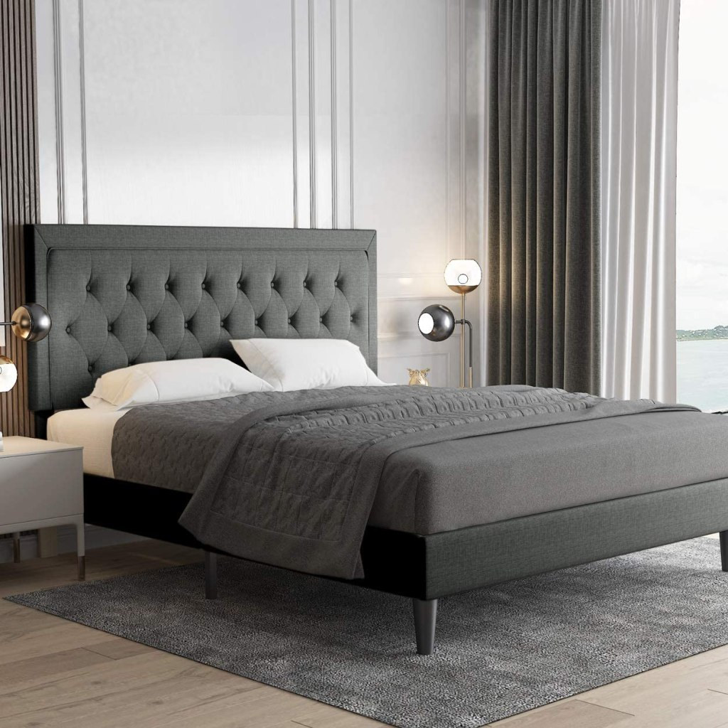 Base de cama copetuda con plataforma