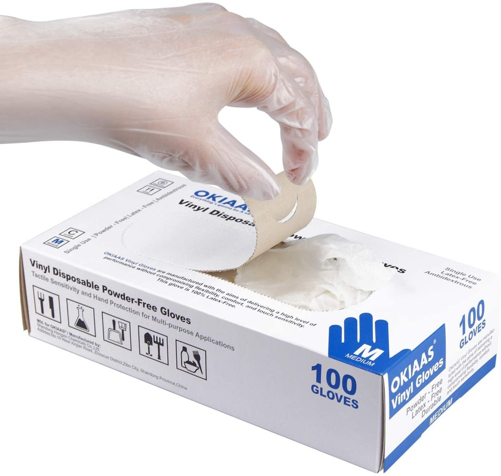 guantes de vinilo transparente