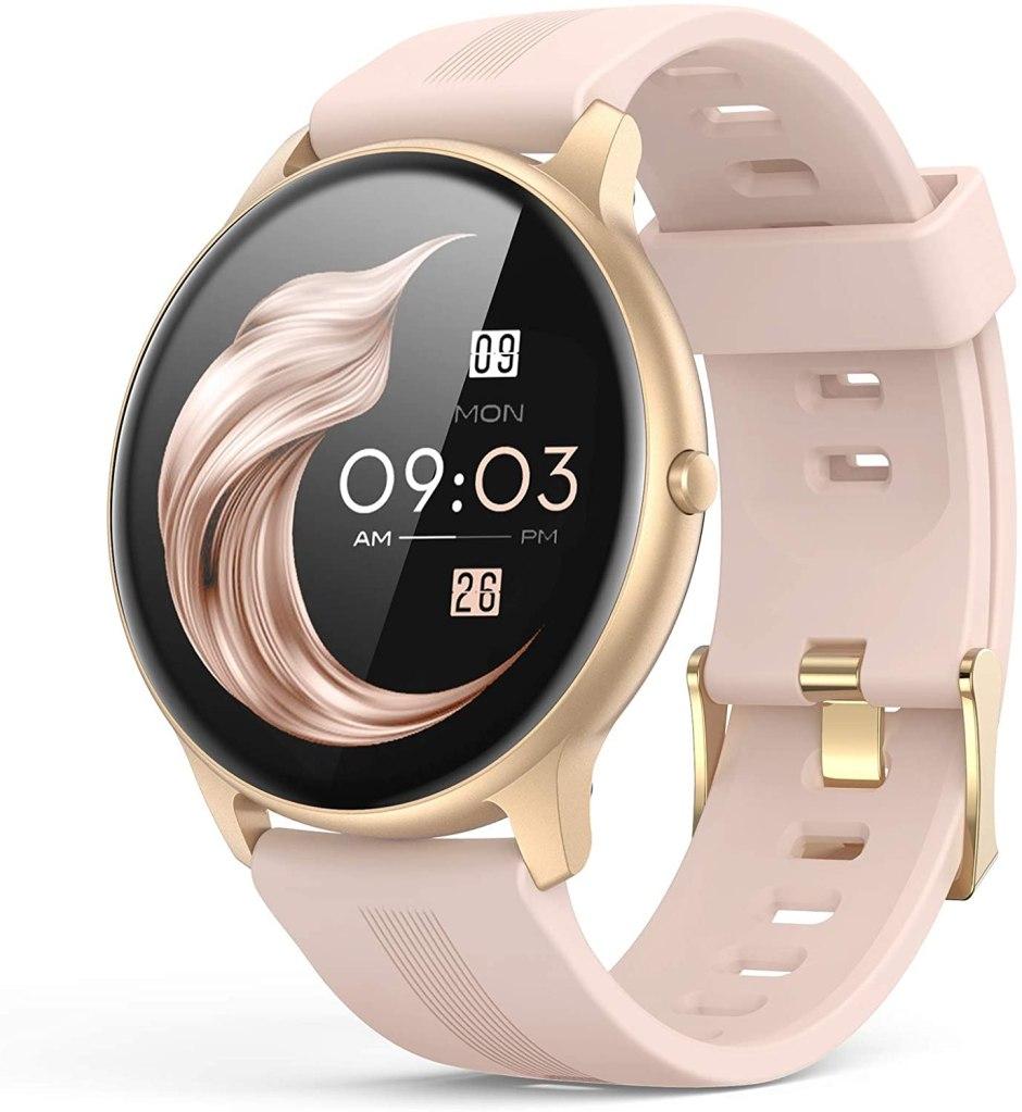 reloj inteligente rosado