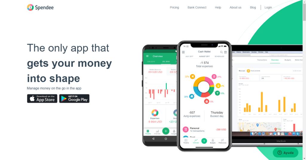 app spendee para organizar las finanzas personales