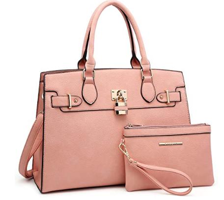 bolso de mano rosado