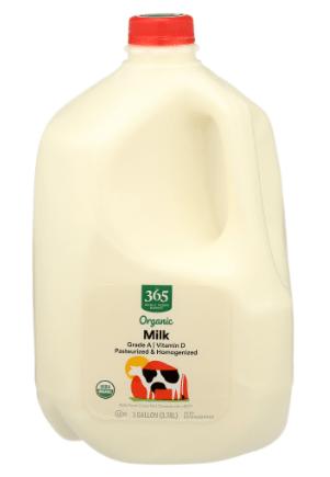 jarra de leche orgánica