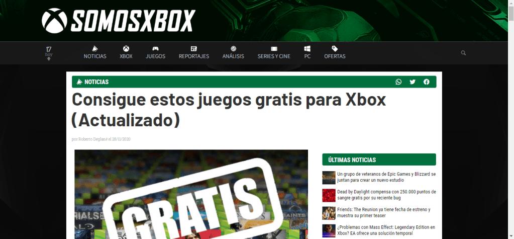 portal para descargar juegos gratis de xbox
