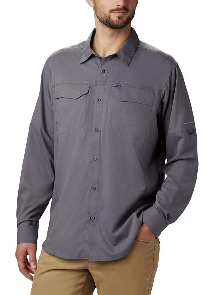camisa manga larga gris para hombre