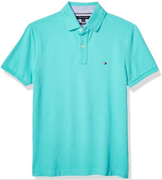 camisa polo color azul