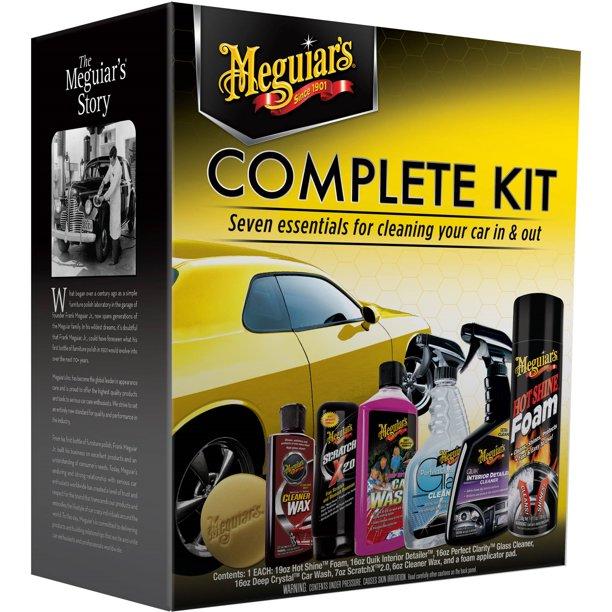 kit para la limpieza del auto