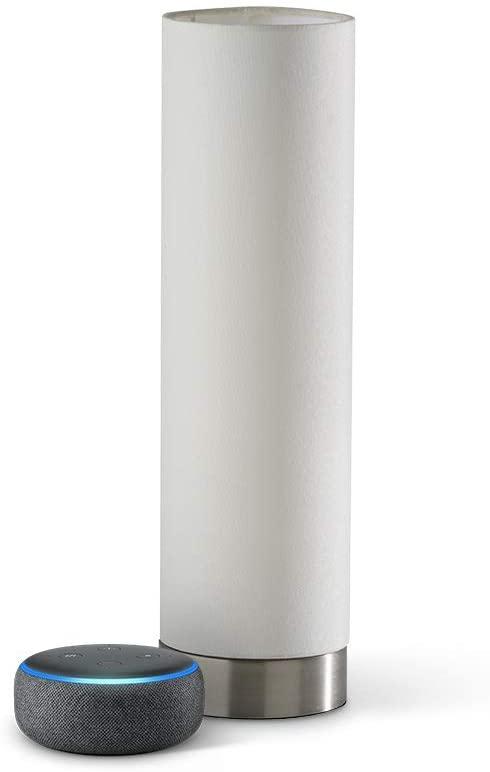 lámpara inteligente blanca con echo show