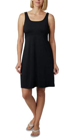 vestido negro clásico de Columbia