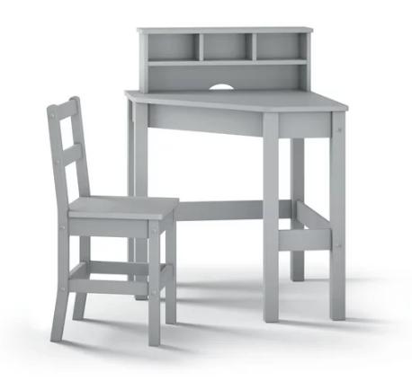 escritorio gris de madera