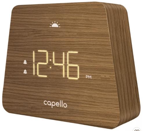 reloj despertador con diseño moderno