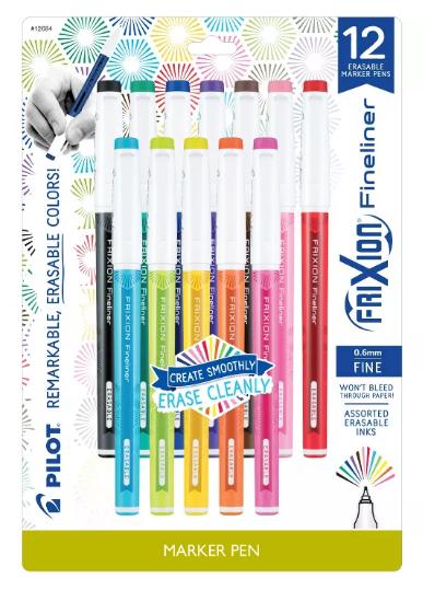 marcadores de colores de punta fina