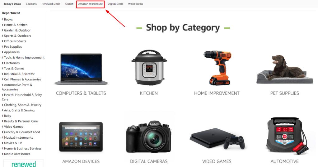amazon warehouse web