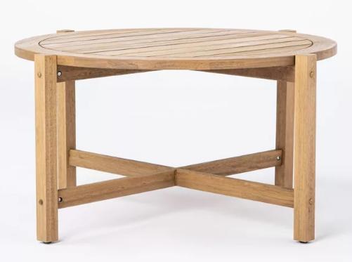 Mesa de centro de patio de madera