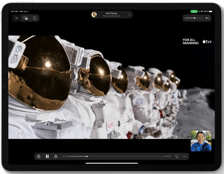 compartir pantalla iPadOS 15