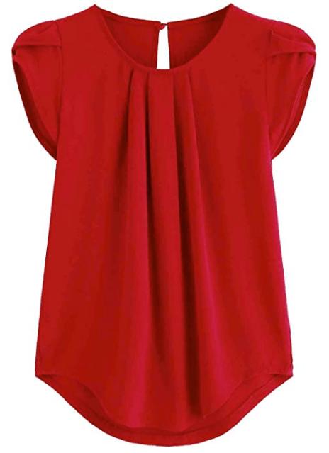 blusa de damas roja