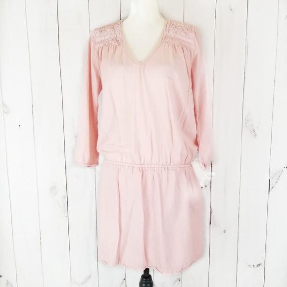 Vestido olgado de color rosa Current Elliot