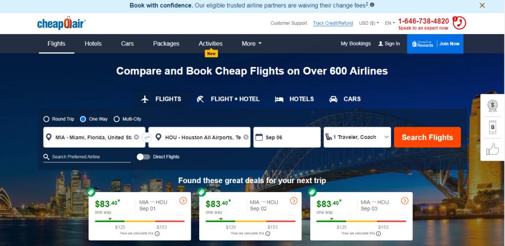 vuelos baratos Labor Day EE.UU.