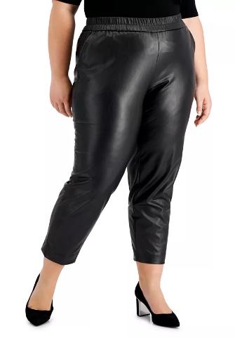 pantalon negro de cuero