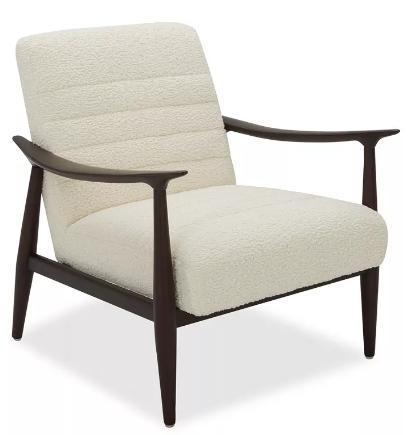 silla de madera con cojines en descuento