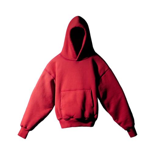sudadera roja marca Yeezy Gap