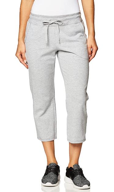 Pantalón de algodón gris para dama Hanes