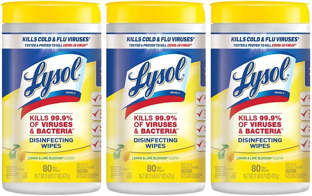 Toallas desinfectantes y desechables Lysol